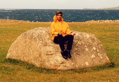 Photo taken by Joyce of Amancio on Omi island near Letterfrack on his last Irish holiday in 1992, just months before his stroke. If you've not been to Omi, it's worth a visit. You walk across at low tide (even drive). Lots of famine victims were buried there apparently. Amancio loved it.