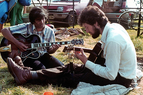 Session with  Bruce Pollin at the Krishnamurti camp at Brockwood Park c1980